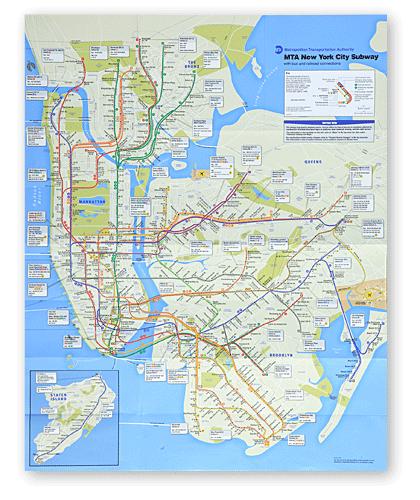 Карта Нью-Йорка 2010