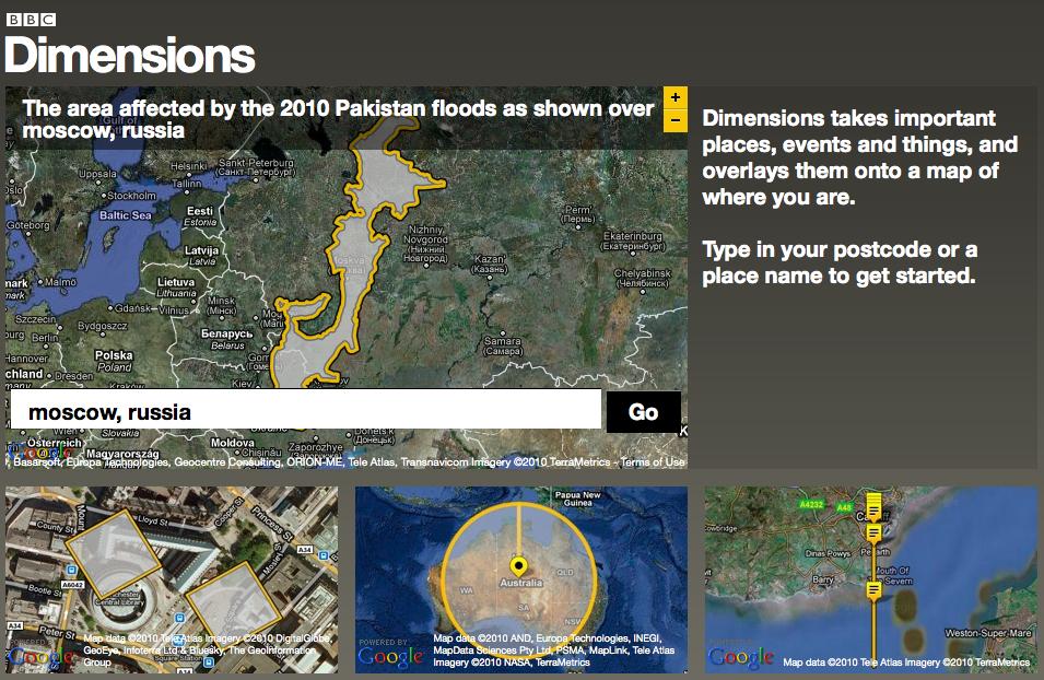 Сервис визуализации BBC Dimensions