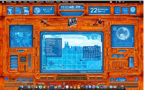 Очень стильная визуализация dashboard с намёком на старые компьютерные игры