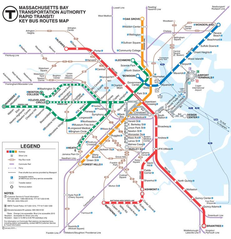 Карта Массачусеттса