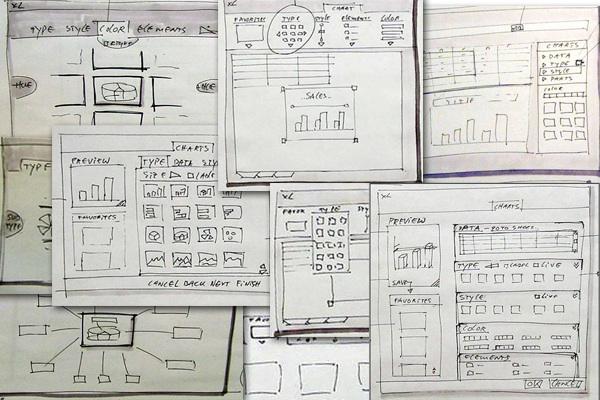 Excel - бумажный прототип