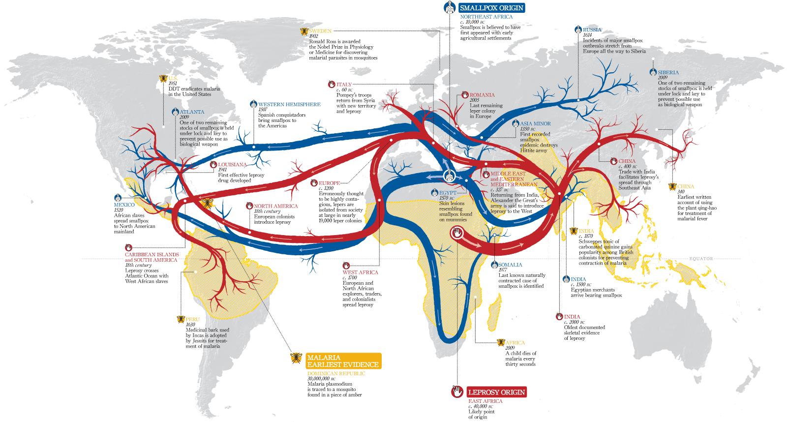 Карта распространения эпидемий