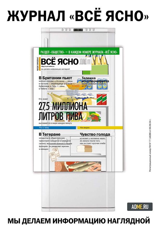 """""""Всё ясно"""" реклама инфографика - холодильник"""