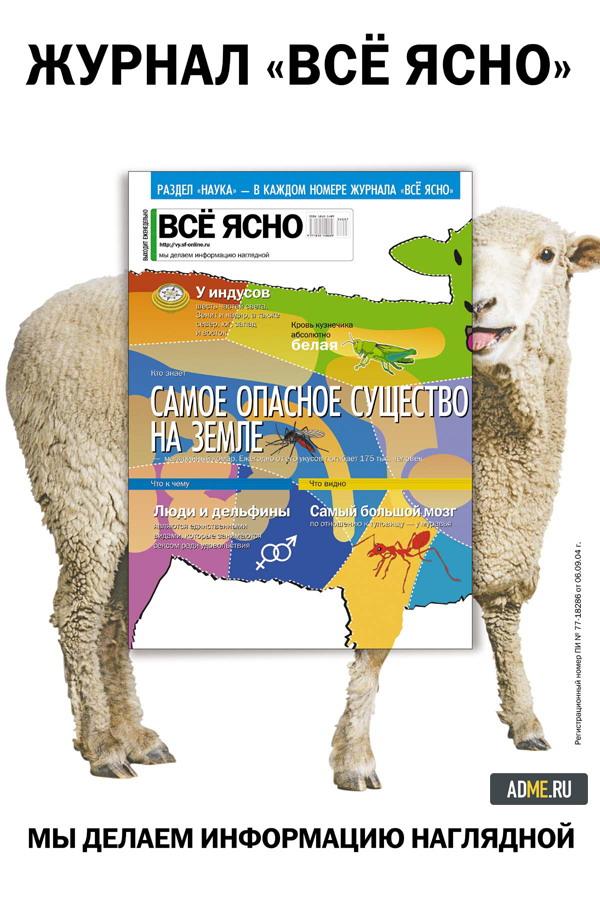 """""""Всё ясно"""" реклама инфографика - овца"""