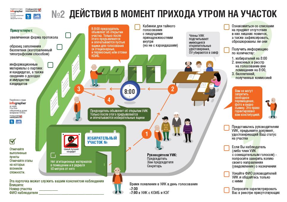Инфографика для наблюдателей на выборах