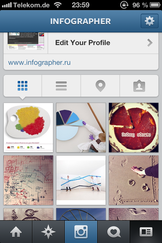 Инфографика в Instagram