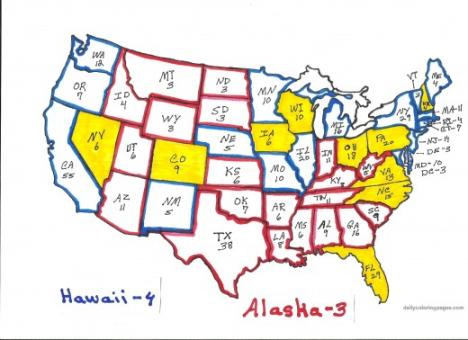 Карта избирательных цветов