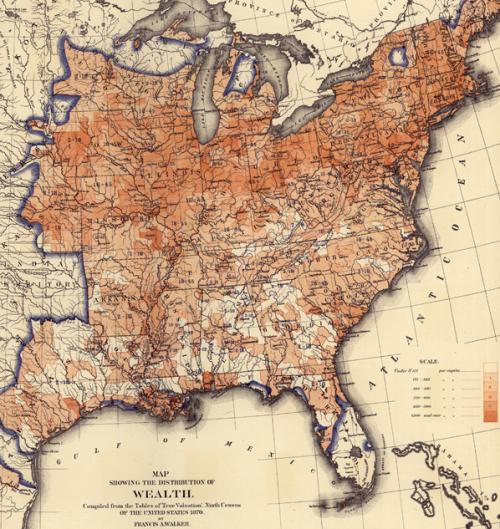 Карта распределения благосостояния народа