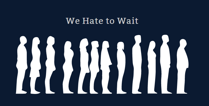Слайд презентации: мы ненавидим ждать